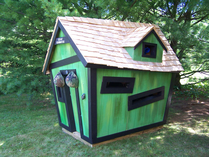 Custom Playhouse By Kids Crooked House