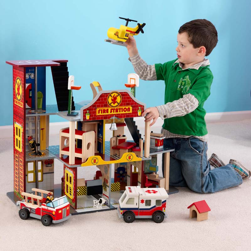 Deluxe fire rescue set by kidkraft - Costco toys for kids ...
