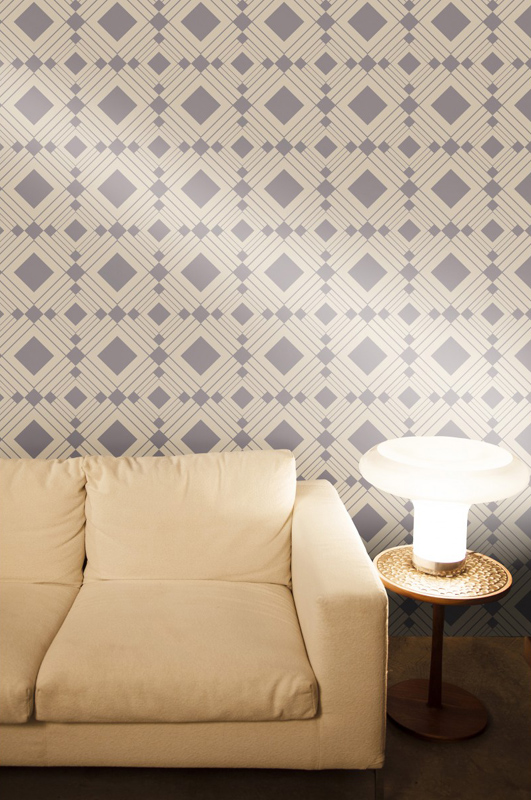 Diamond Taupe Removable Wallpaper By Tempaper