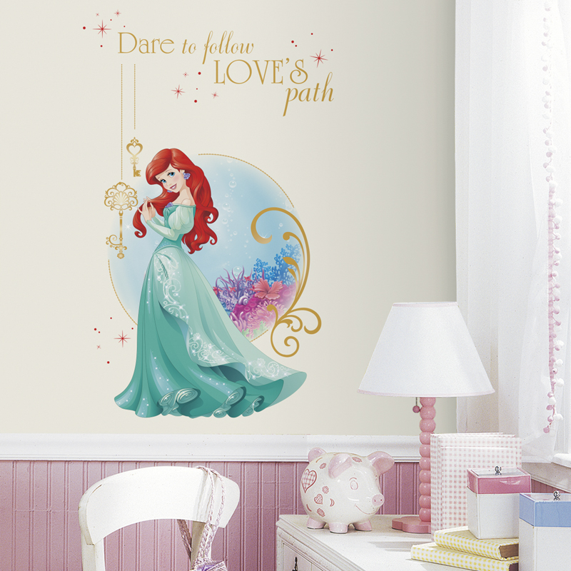 Disney princess ariel giant wall decals for Disney princess mural stickers