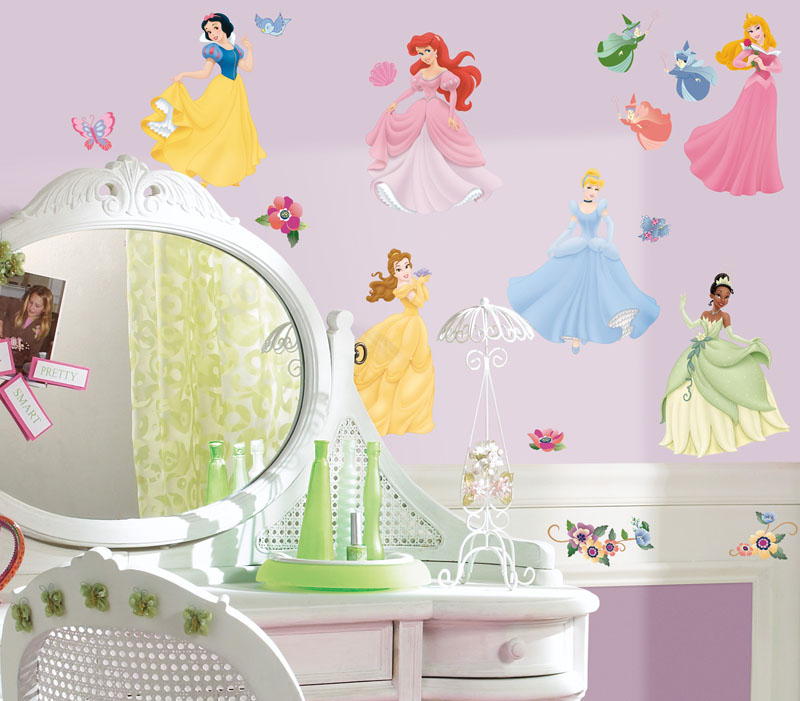 disney princess peel stick wall decals. Black Bedroom Furniture Sets. Home Design Ideas