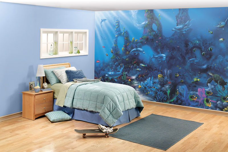 Dolphins 39 paradise wall mural for Dolphins paradise wall mural