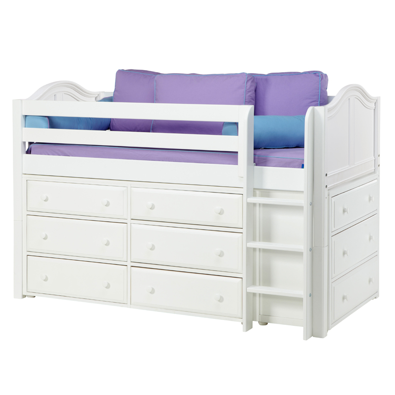 Box Low Loft Bed With Dressers