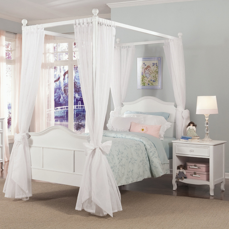 Emma 4 post bed with tall headboard and footboard - Bed for girls room ...