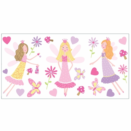 Image garden fairy wall stickers download for Fairy garden wall mural