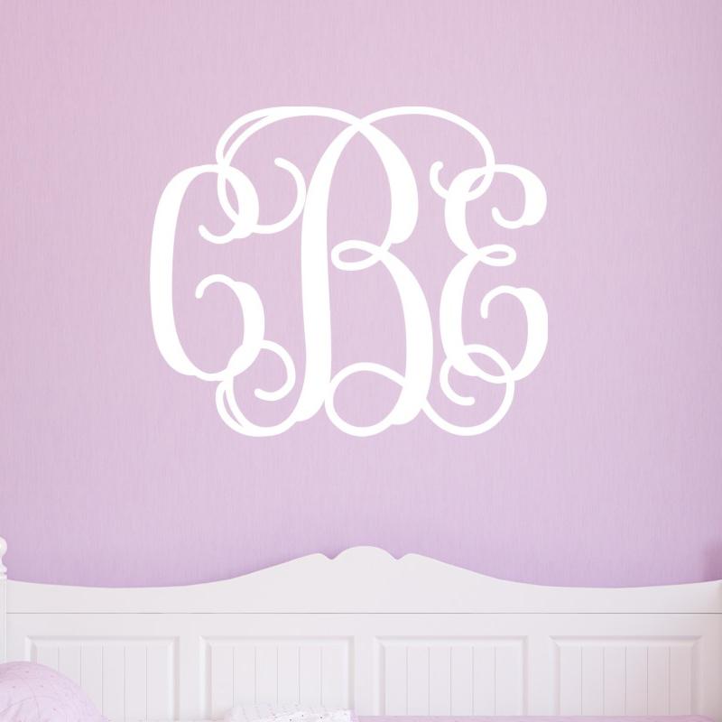 monogram wall decals 2017 grasscloth wallpaper With monogram wall decal