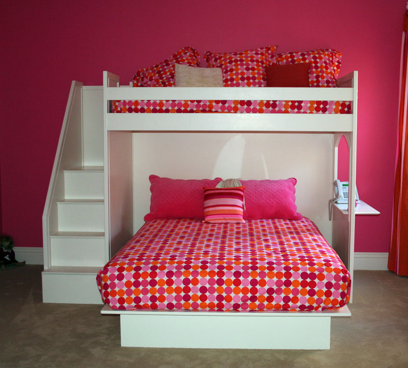 Fantasy Twin over Queen Bunk Bed by Country Cottage