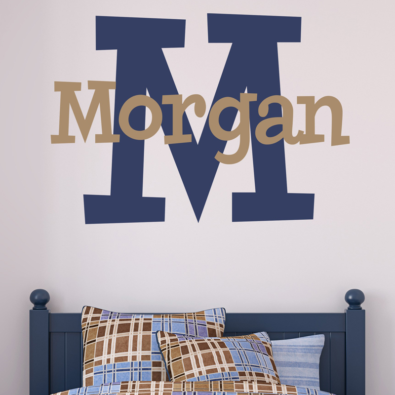 first name boy personalized wall decal by alphabet garden. Black Bedroom Furniture Sets. Home Design Ideas