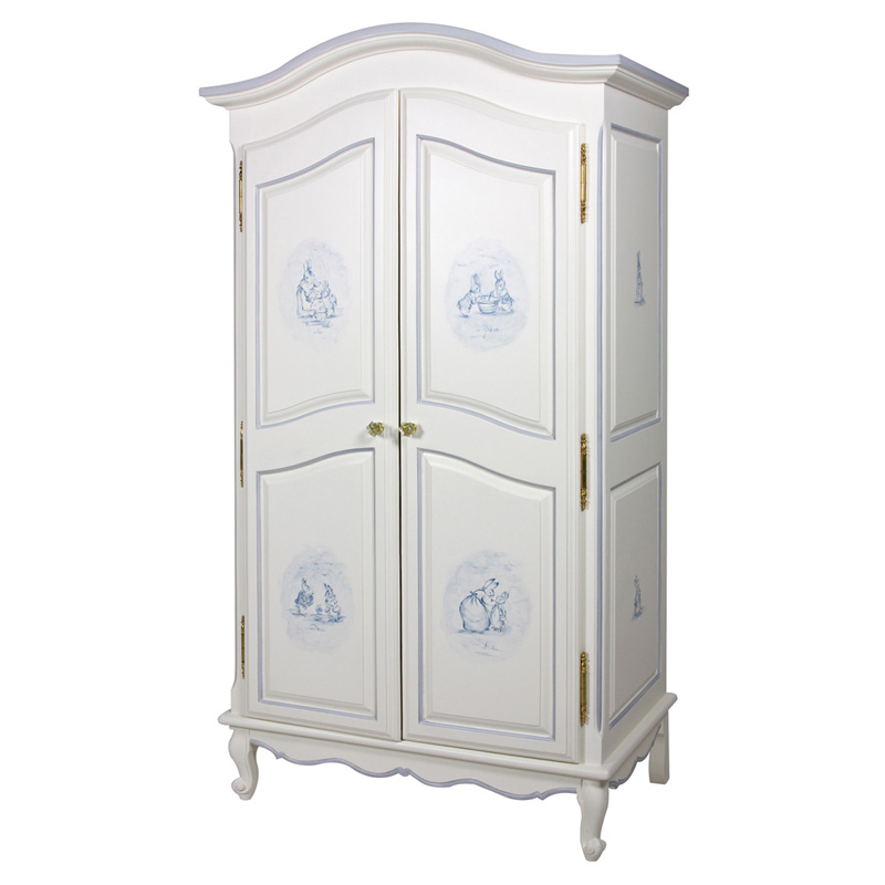 french armoire in antico white with petit moi motif by art. Black Bedroom Furniture Sets. Home Design Ideas