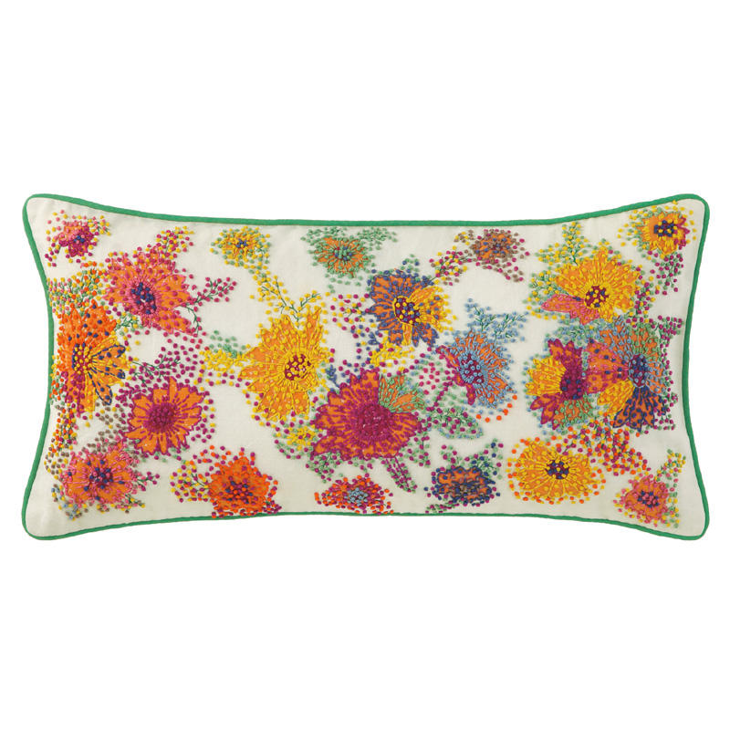 French Knot Floral Throw Pillow by Company C - RosenberryRooms.com