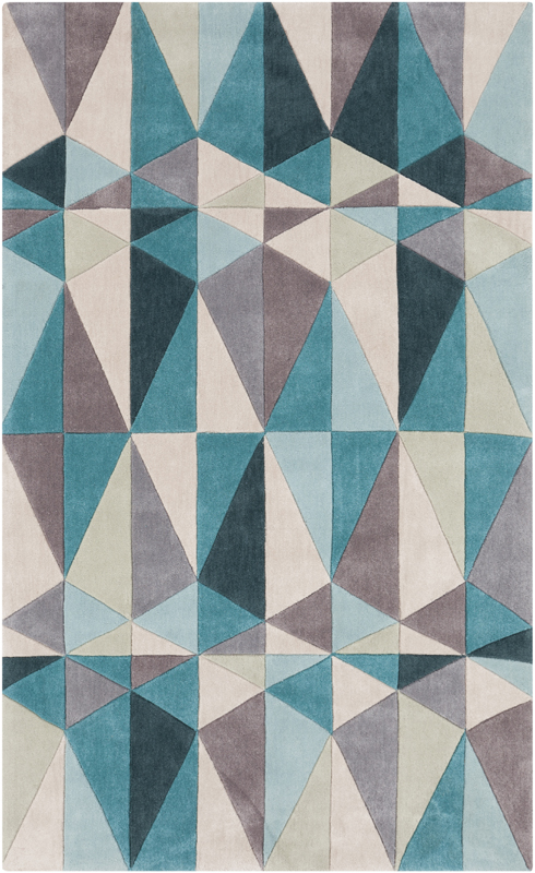 Geometric triangles cosmopolitan rug by surya for Geometric print area rugs