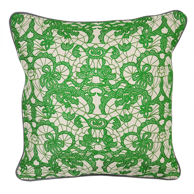 Green terrace lace pillow by villa home collection for Villa home collection pillows