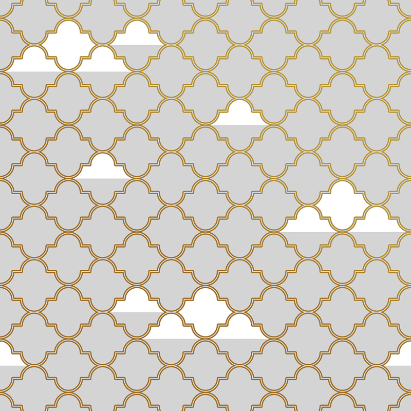 Grey And Gold Clouds Removable Wallpaper By Tempaper