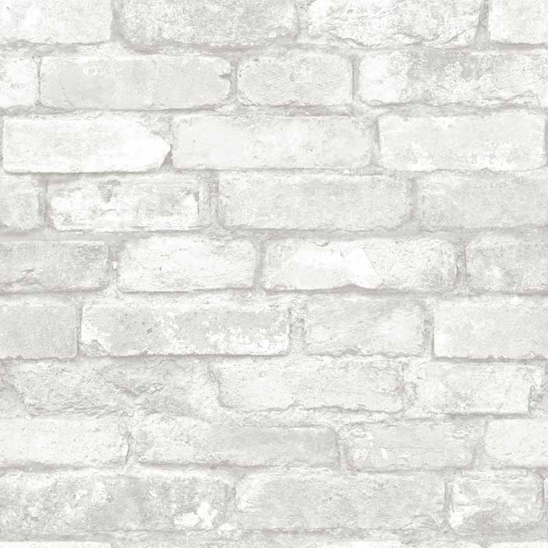 grey and white brick peel and stick nuwallpaper