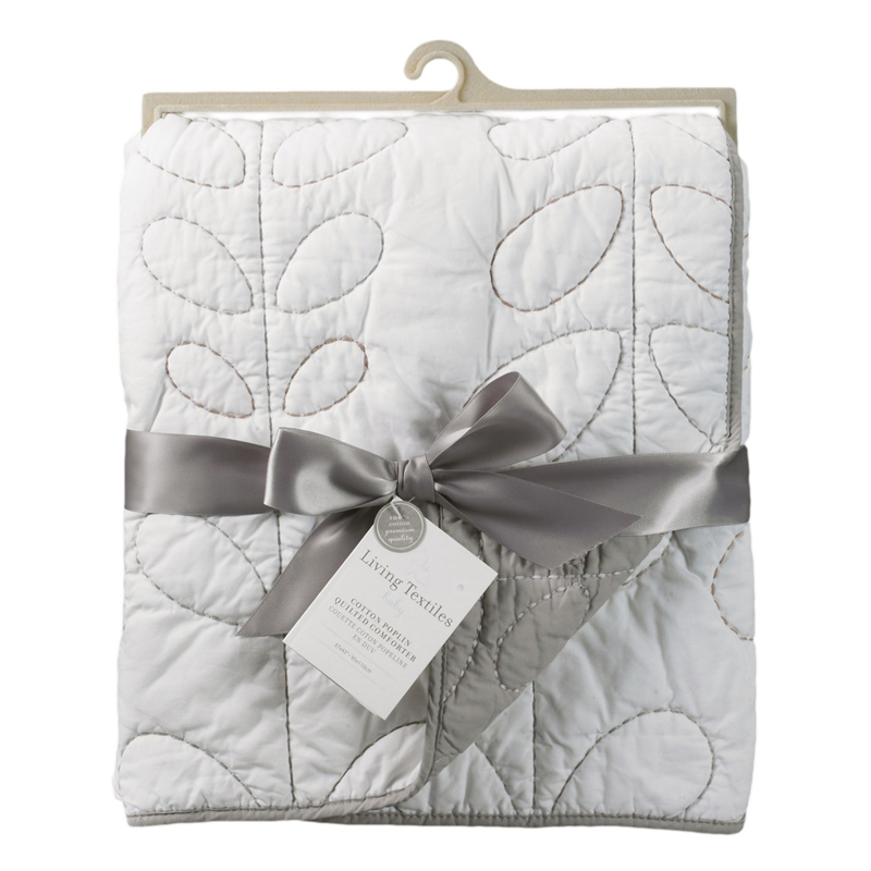grey and white quilted crib comforter by lolli living. Black Bedroom Furniture Sets. Home Design Ideas