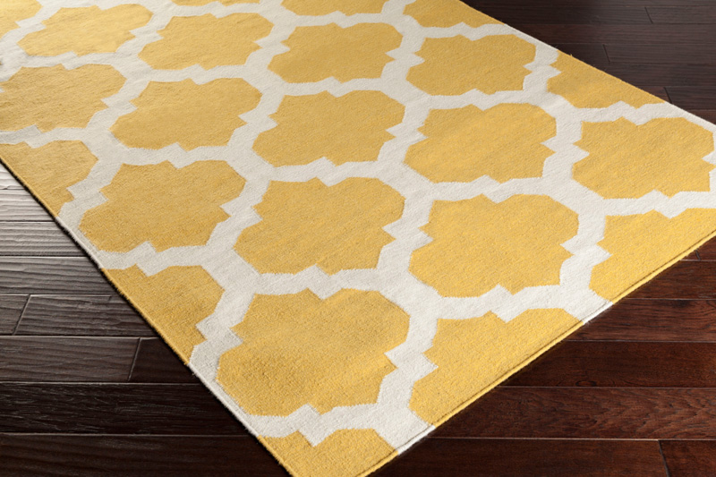 harlow rug in yellow and white by artistic weavers. Black Bedroom Furniture Sets. Home Design Ideas