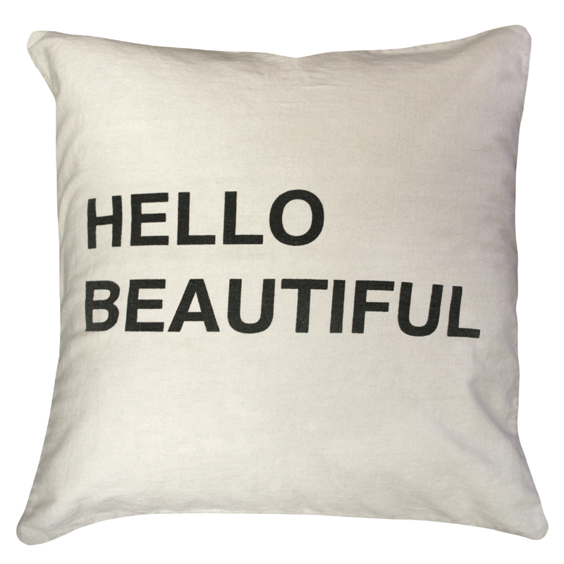 Hello Beautiful Throw Pillow by Sugarboo Designs - RosenberryRooms.com