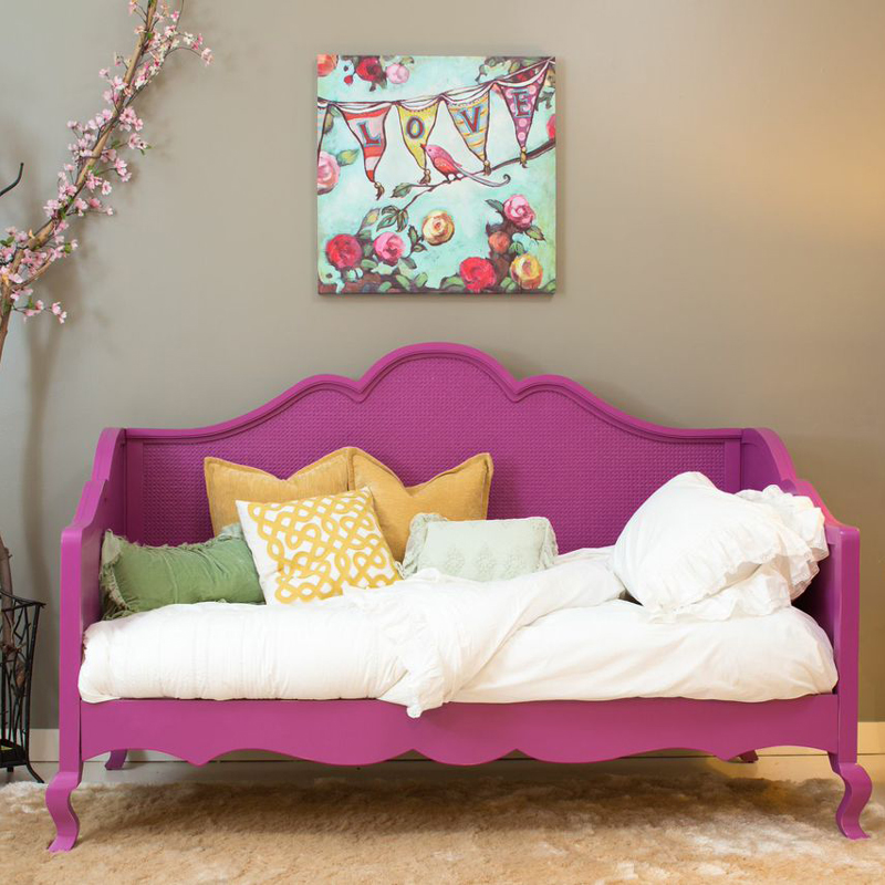 Hilary twin day bed with caning by newport cottages for Twin bed girl furniture