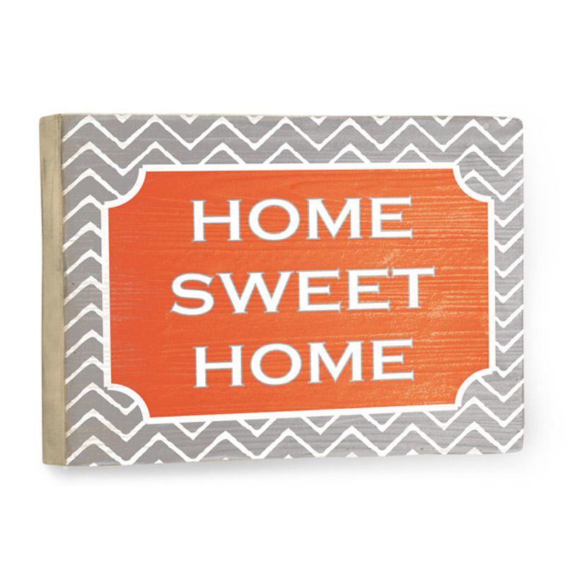 Home Sweet Home Chevron Vintage Wood Sign ...