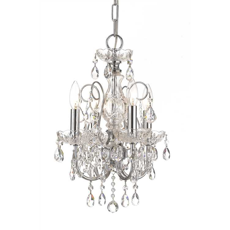 Mini crystal chandelier light home decor ideas - Can light chandelier ...