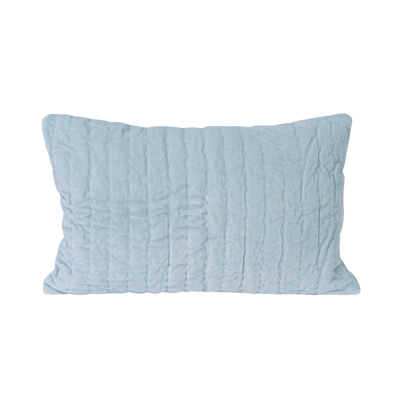 Decorative Quilted Pillow Covers : Jasper Blue Velvet Quilted Decorative Pillow Cover by Little Auggie