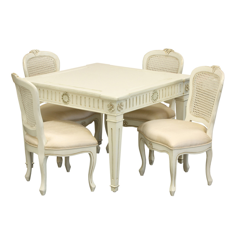 White Kitchen Table And Chars