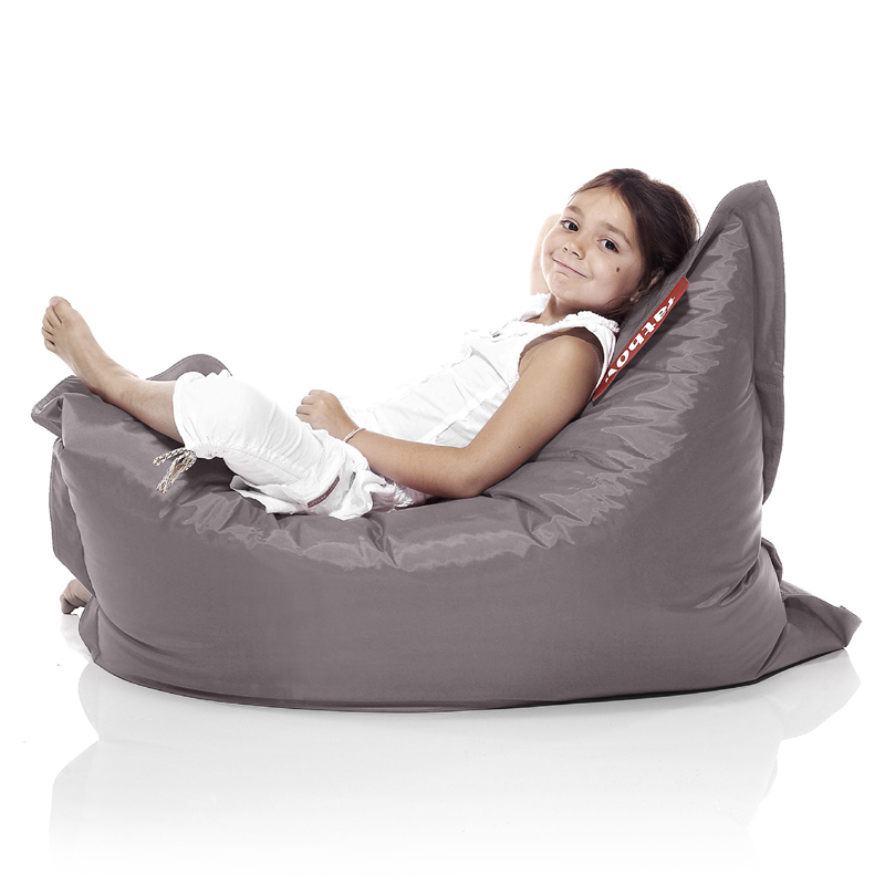 fatboy junior taupe beanbag by fatboy. Black Bedroom Furniture Sets. Home Design Ideas