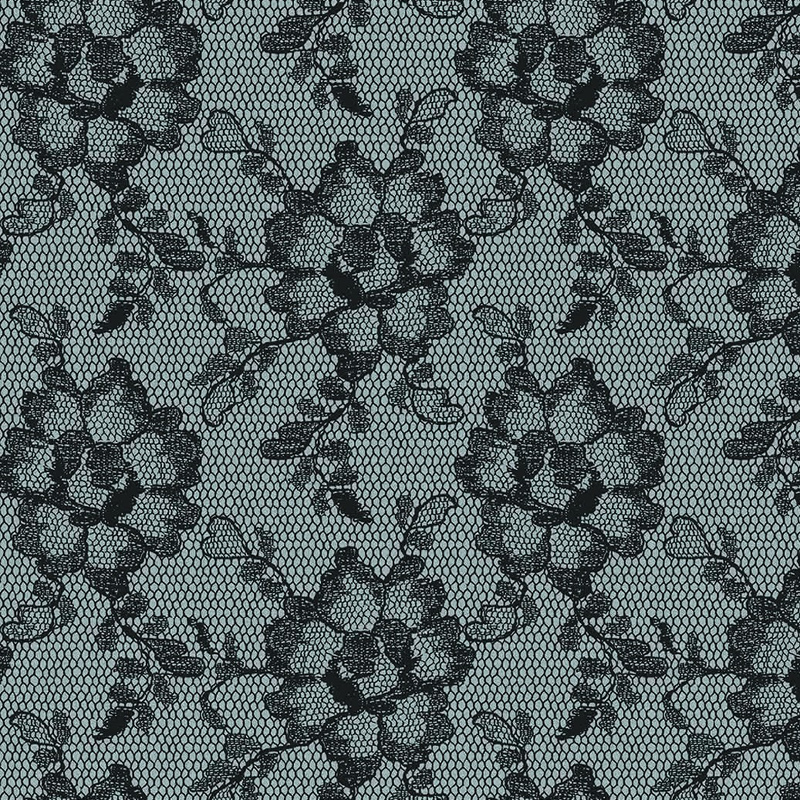 Lace Textured Smokey Black Removable Wallpaper By Tempaper
