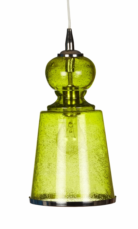 Lafitte long pendant in celadon seeded glass by jamie young for Jamie young lighting pendant