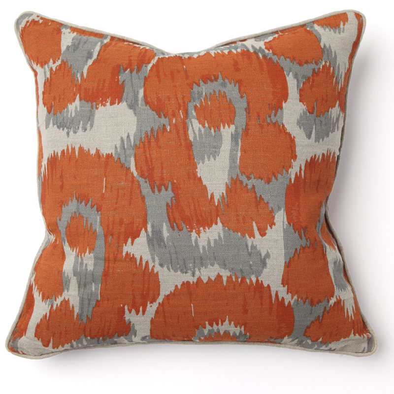 Leopard print orange throw pillow by villa home collection for Villa home collection pillows