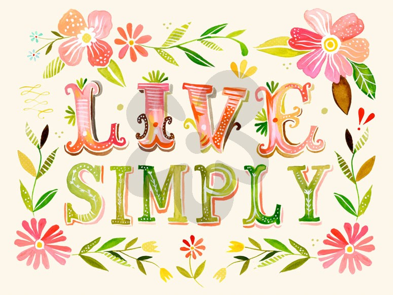 Live simply canvas wall art by oopsy daisy for Live simply wall art
