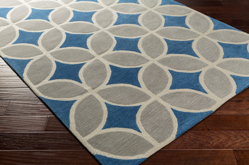 mackenzie rug in royal blue and gray by artistic weavers. Black Bedroom Furniture Sets. Home Design Ideas
