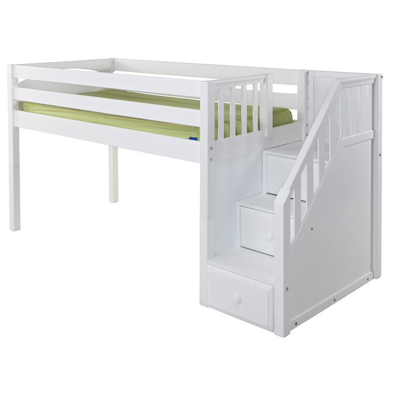 Great Low Loft Bed With Staircase