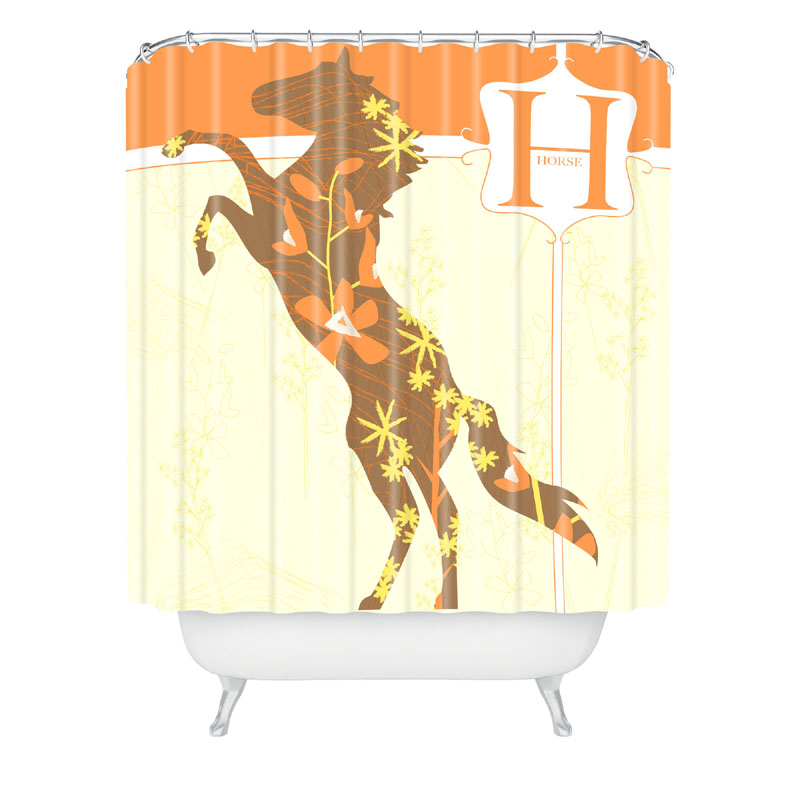 Mister Horse Shower Curtain By Deny Designs