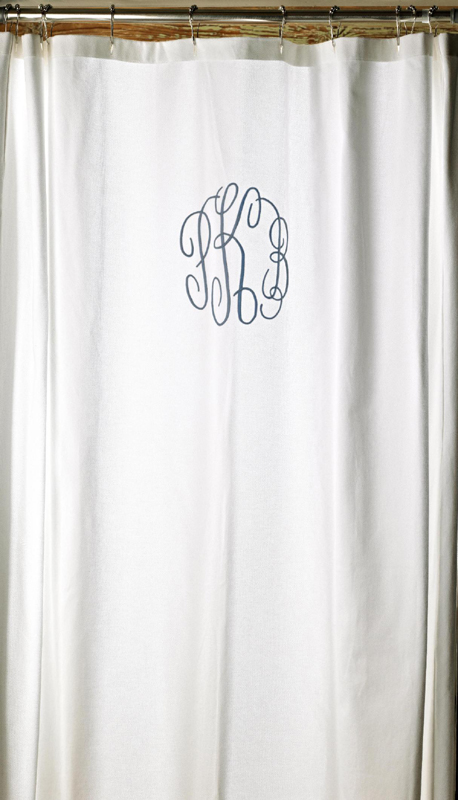 monogrammed shower curtain by traditions linens