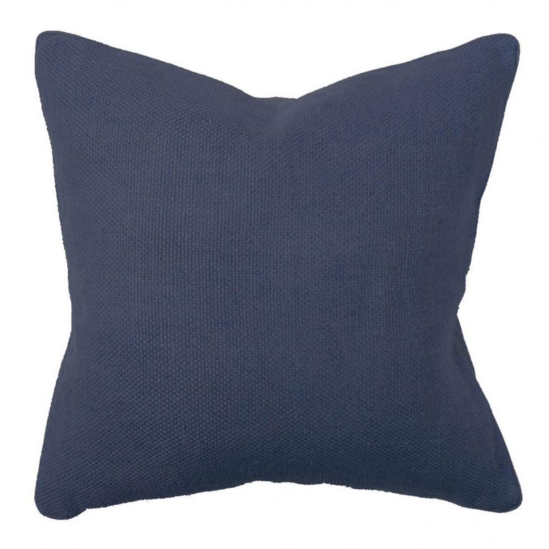 Navy Willow Basket Weave Pillow by Villa Home Collection