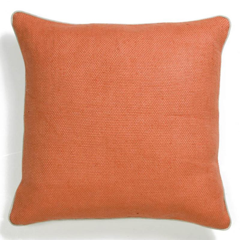 Orange Willow Basket Weave Pillow by Villa Home Collection