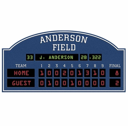 Personalized baseball scoreboard peel and stick wall mural for Baseball scoreboard wall mural