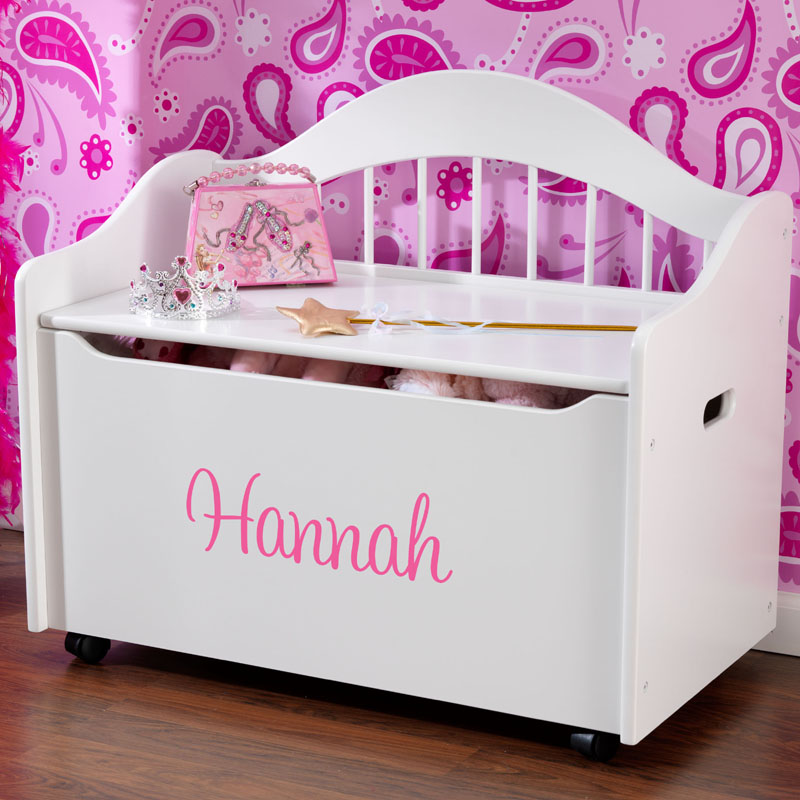 personalized limited edition toy box white by kidkraft. Black Bedroom Furniture Sets. Home Design Ideas