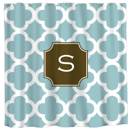 personalized quatrefoil shower curtain by lipstick shades