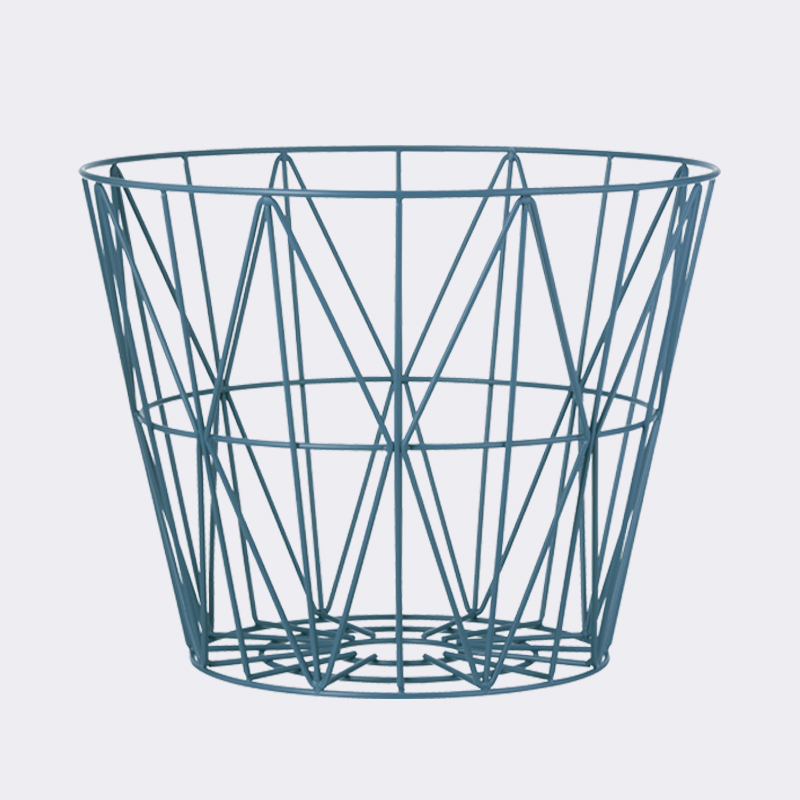petrol large wire basket by ferm living. Black Bedroom Furniture Sets. Home Design Ideas