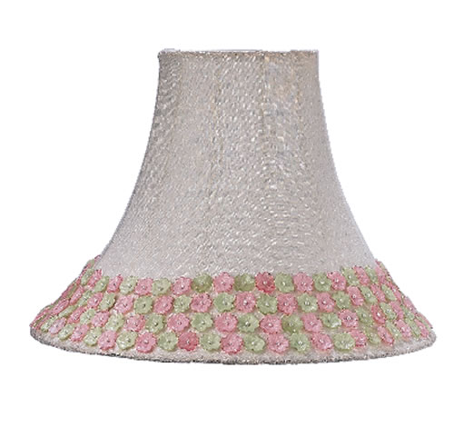 Green Floral Lamp Shade : Pink and green flower border medium lamp shade by jubilee