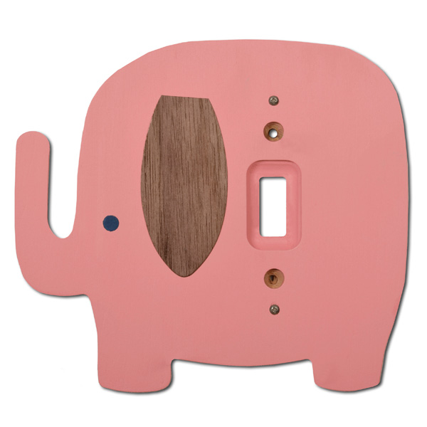 Pink Elephant Switch Plate Cover By Tree By Kerri Lee