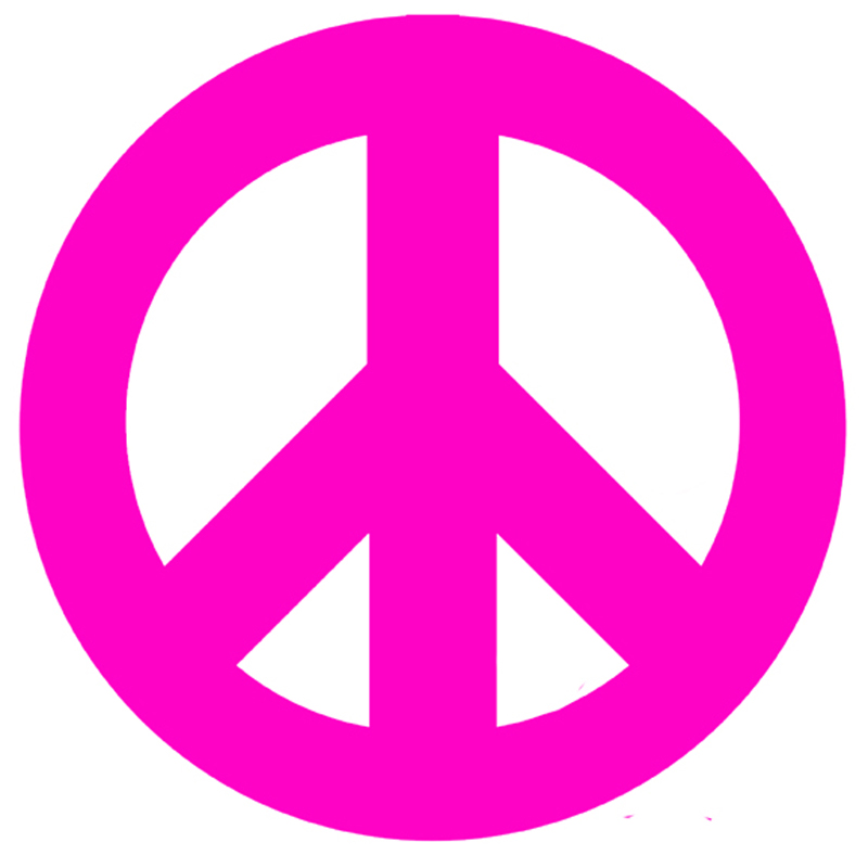 Hobo Rugs Pink Peace Sign and Polka Dots Wall Sticker by Instant ...