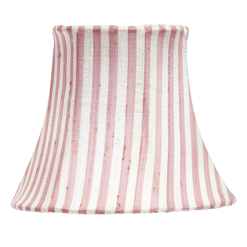 Pink white stripe chandelier shade by jubilee collection - White chandelier with shades ...