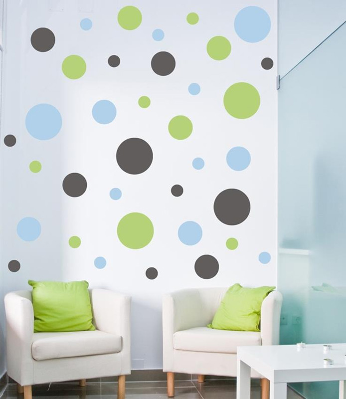 polka dots wall decal by alphabet garden designs. Black Bedroom Furniture Sets. Home Design Ideas
