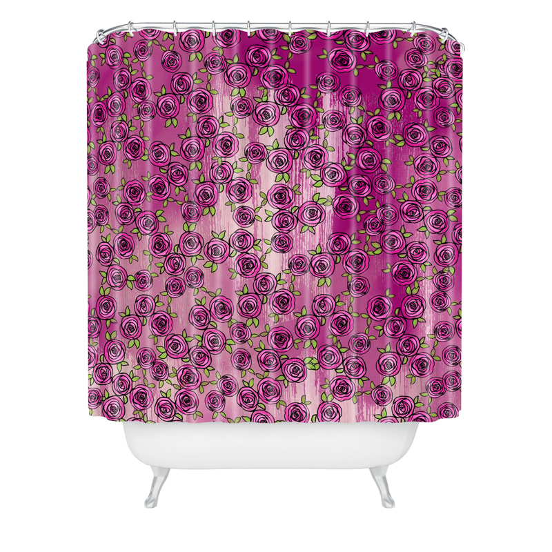 Purple Roses Shower Curtain By Deny Designs
