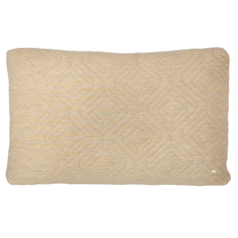 Throw Pillow Rectangle : Rectangle Quilt Cushion Throw Pillow in Camel by ferm LIVING
