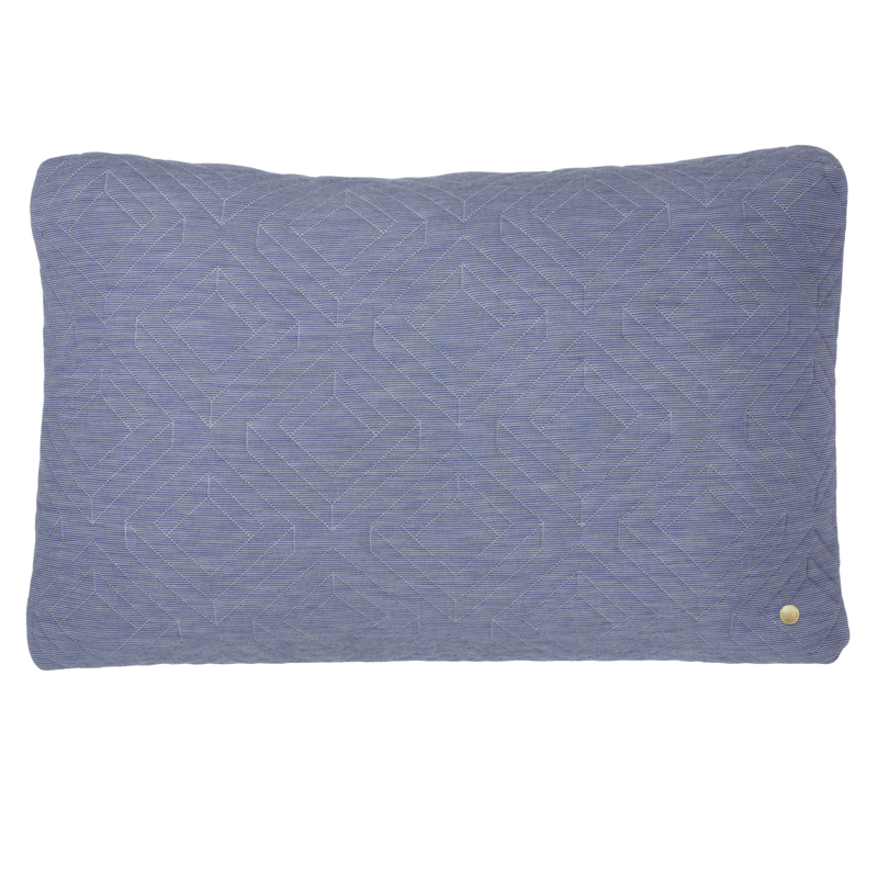 Blue Rectangular Throw Pillows : Rectangle Quilt Cushion Throw Pillow in Light Blue by ferm LIVING
