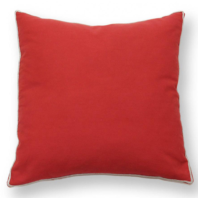 Red basic elements pillow by villa home collection for Villa home collection pillows